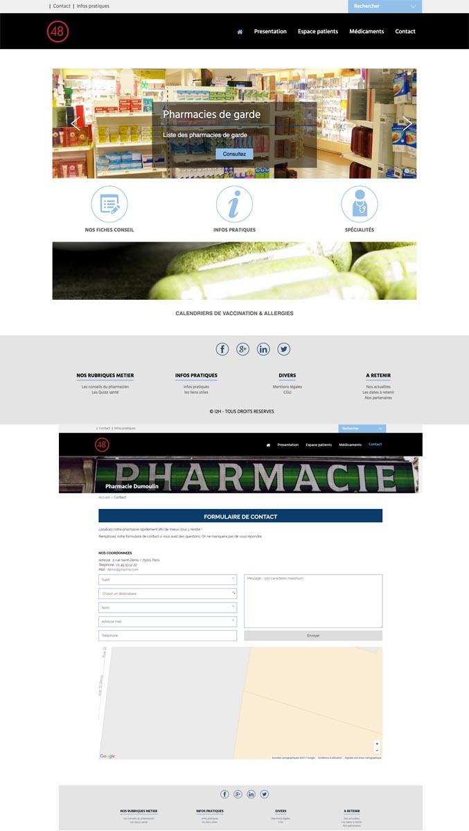 template pharmacie