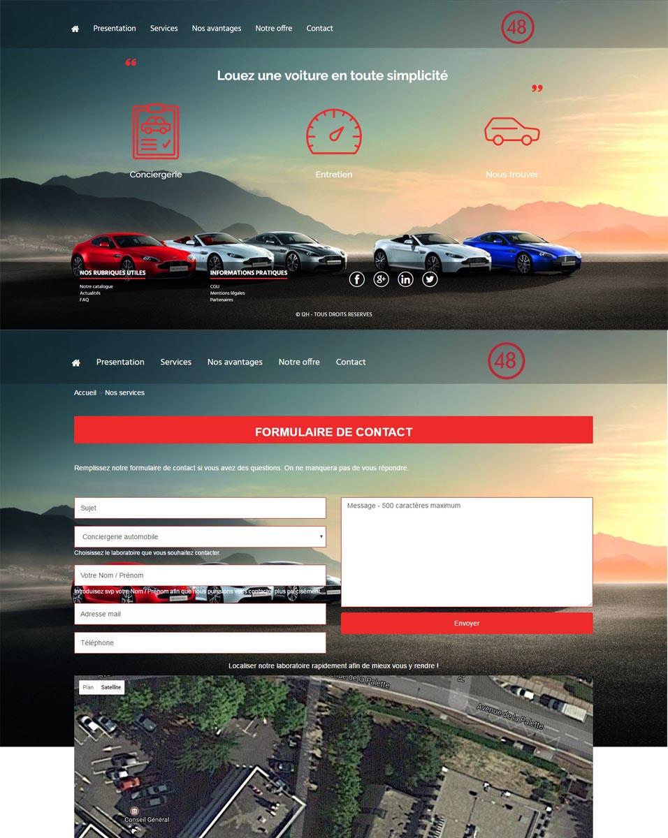 template leasing/auto ecole