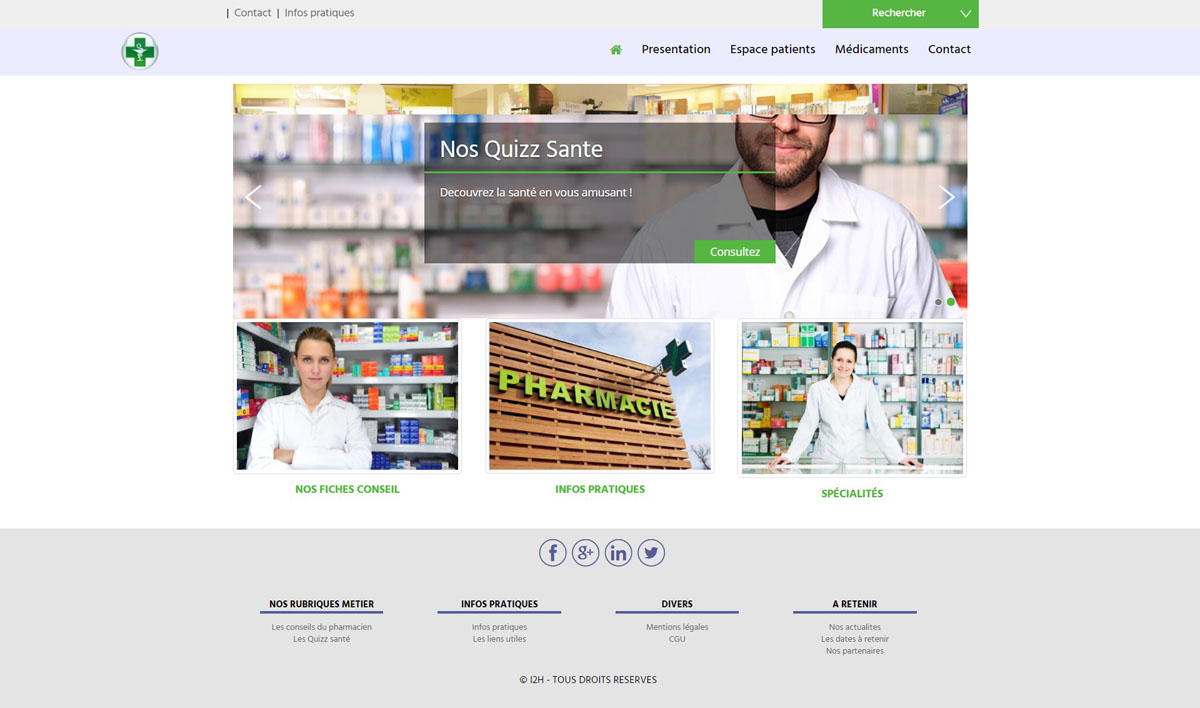 template pharmacie