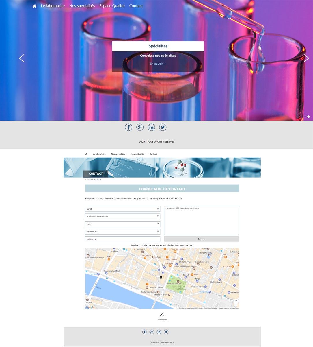 template laboratoire d'analyse