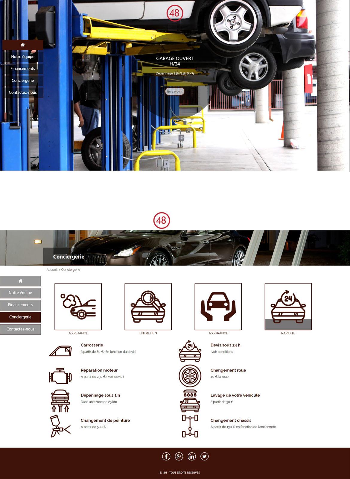 48 cr ation de sites web pour les entreprises en 48 heures for Garage autoservices les ulis